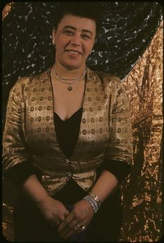"""Mabel Mercer (1900-1984) photographed by Carl Van Vechten on April 22, 1952. Ms. Mercer was one of the most influential singers of all time, influencing masters like Nat King Cole, Barbra Streisand, Leontyne Price and Frank Sinatra who once said, """"Mabel Mercer taught me everything I know."""" Born in Burton-on-Trent, Staffordshire, England, she sang at Bricktop's fabled Paris nightclub in the 1920s & 1930s. Photo: Beinecke Rare Book and Manuscript Library"""
