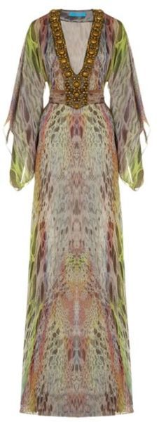 Matthew Williamson Dresses for Women Green Butterfly, Butterfly Print, Kaftans, Abayas, Vintage Style, Vintage Fashion, Long Kaftan, Gypsy Chic, Fashion Makeover