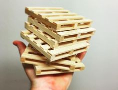 What are these? Cinder blocks for ants? Yes – well, more like for hamsters. The Miniature #Cinder #Blocks by Mini Materials come in at 1:12 scale and are made with real cement.