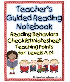 Guided reading checklists.                                First Grade Wow: Guided Reading Guide