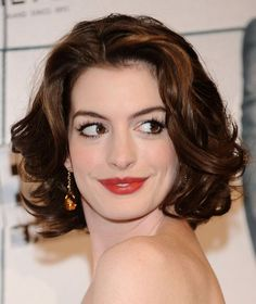 50 Best Hairstyles for Thick Hair   herinterest.com   anne hathaway shoulder length curls