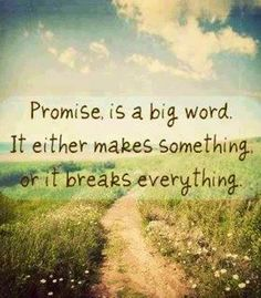 Promise quote via Carol's Country Sunshine on Facebook