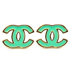 Mint Chanel earrings
