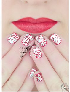 Tin Foil Nails | Being Genevieve  Here is a free tutorial on how to get the shattered glass nail art look with simple tin foil.