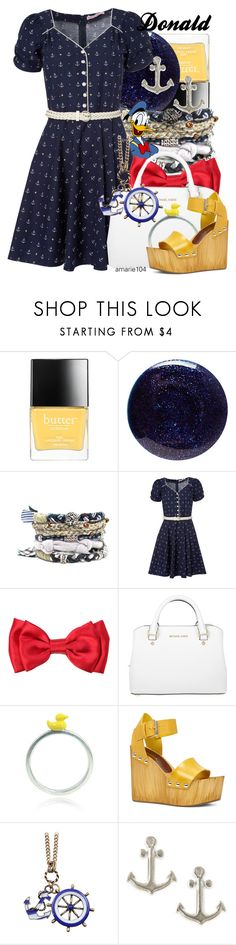 """Donald Duck"" by amarie104 ❤ liked on Polyvore featuring Butter London, Lauren B. Beauty, Trollied Dolly, Michael Kors, Bug, ALDO, Chicnova Fashion and Dogeared"