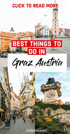 This Post Is Filled With The Best Things To Do In Graz Austria For First Time Visitors. Including What To See, Best Food Markets, Where To Stay, Cool Photography Spots, Plus Graz Travel Tips For 2 Days In Graz Austria. Backpacking Europe, Europe Travel Guide, Europe Destinations, Travel Guides, Europe Packing, Packing Lists, Travel Deals, Travel Hacks, Travel Packing
