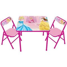 Disney Princess Activity Table and Chair Set and Multi Bin Toy ...