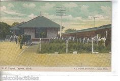 1910 Pontiac,Mich. postmark. 13 Star Flag cancel F.J. David,Publisher Item #9164