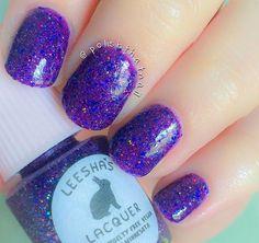 Fancy Shawl - Full Size or Mini Purple Jelly Glitter Nail Polish