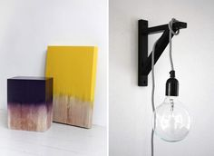 Spray paint wooden jambs and add cord light