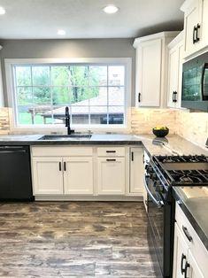 City House Kitchen – The Marshall Remodel Farmhouse Kitchen Decor, Home Decor Kitchen, Home Kitchens, Kitchen Ideas, Country Kitchen, New Kitchen Cabinets, Kitchen Redo, Kitchen Remodel, Kitchen Room Design
