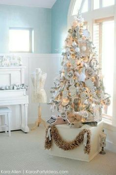 Dress forms on Christmas tree
