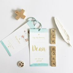 BOY • LOVELY WATERCOLOR TAG | JONGENS | THE BIRDS AND THE BEES