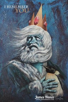 Adventure Time - The Ice King by James Hance * :sobbing: this is so disturbingly amazing
