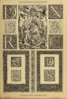 Der Ornamentenschatz; ein Musterbuch stilvoller... Initials, borders and illumination from the French Renaissance