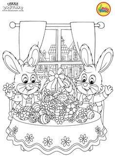 Uskrs bojanka - Easter coloring pages for kids - BonTon TV