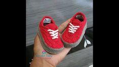 Tennis crochet VANS - Size 09 cm - Crochet Baby Yara Nascimento - YouTube