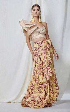 M'O Exclusive Bongo Cotton Poplin Top and Marrakesh Silk Double Georgette Skirt by Johanna Ortiz