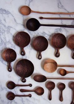 Fabulous Wood Crafts, Wooden Tableware and Kitchen Utensils by Ariele Alasko dinnerware and kitchenware images Love Spoons, Carved Spoons, Wood Spoon, Wooden Kitchen, Kitchen Art, Kitchen Tools, Kitchen Gadgets, Kitchen Design, Kitchen Utensils
