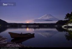 Moonlight Fuji - stock photo