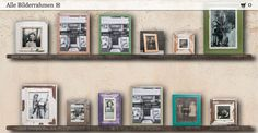 Onlineshop with frames made from recycled wood. Shops, Recycled Wood, Floating Shelves, Frames, Gallery Wall, Home Decor, Recyle, Picture Frame, Tents