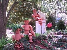 Flower Pot People by Cowboy-Bill - No directions just the idea of what can be done.