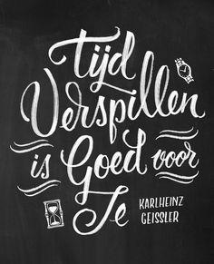 Quote illustratie voor Flow Magazine International. Handlettering chalkboard www.chalkboard.nl