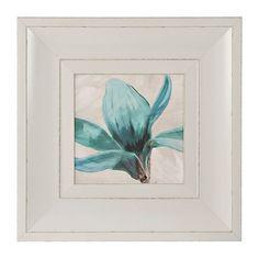 Turquoise Floral Stem I Framed Art Print | Kirklands