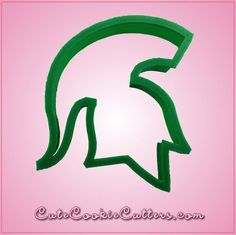 Green Spartan Cookie Cutter by Cheap Cookie Cutters. Our green spartan cookie cutters inches tall, 3 inches wide, and are made of green plastic. Cheap Cookie Cutters, Michigan State University, Cookie Decorating, Sugar Cookies, Msu Spartans, Graduation, Towel, Plastic, Cleaning