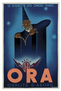 radio Ora - 1936 - illustration de Pierre Fix-Masseau -