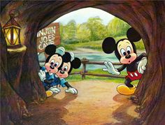 Mickey and his Nephews Postcard.