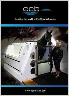 ECB cold saltwater spa. Very cool how advanced equine technology has gotten