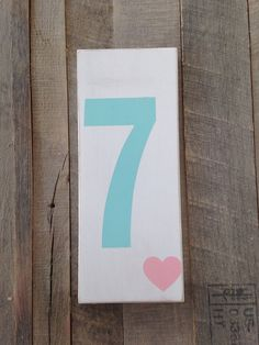 Family number sign collage wall accent photo accent shelf sitter custom family number  on Etsy, $10.00