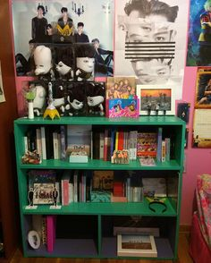 Still working on making it look better. There is actually a ton of space so I had to spread out my albums so they wouldn't all fall over. I don't know where to hang the Cheer Up banner I don't want to block the albums. BTS VIXX Got7 & Monsta X are on the first shelf. B.A.P Twice & various artists & then Japanese albums on the second. Photocards & extra stuff on the bottom. . . . #kpop #kpopcollection #kpopstuff #kpopalbums #kpopmerch #kpopmerchandise #BTS #BTSARMY #BangtanSonyeondan…