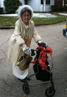 e4a59c8f4f Old lady costume Old Lady Halloween Costume