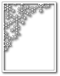 1550 Crystal Snowflake Corner Frame craft die #craft #die #poppystamps…
