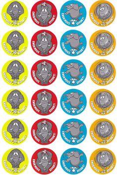 Schools /'Quiet worker/' Children Teachers 144 x 30mm award stickers Parents