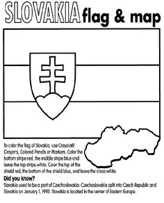To color the flag of Slovakia, use Crayola® Crayons, Colored Pencils or… Slovakia Flag, Disney Princess Snow White, World Thinking Day, School Week, Bear Print, Tree Print, Early Education, To Color, Free Coloring Pages
