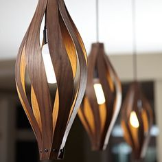 Shop the Cocoon 1 - Light Unique / Statement Geometric Pendant at Perigold, home to the design world's best furnishings for every style and space. Wood Pendant Light, Pendant Lighting, Pendant Lamps, Interior Lighting, Home Lighting, Unique Lamps, Unique Lighting, Lighting Design, Bedroom Lamps