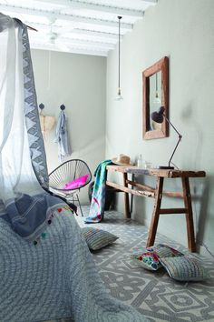 Home Textile, Hanging Chair, Furniture, Bedrooms, Textiles, Home Decor, Lifestyle, Courtyards, Linens