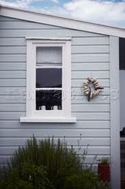 house colours exterior blue white window frames nz - Google Search