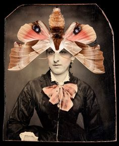 Jo Whaley collage using Victorian photo. don't love, but consider mixed media application. Collage Foto, Art Du Collage, Mixed Media Collage, Illustration Photo, Illustrations, Collages, Art Altéré, Photomontage, Historia Natural