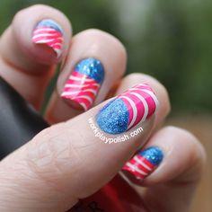 July 4th Flag Nails