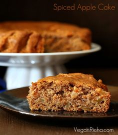 Vegan Ed Apple Cake With Salted Caramel
