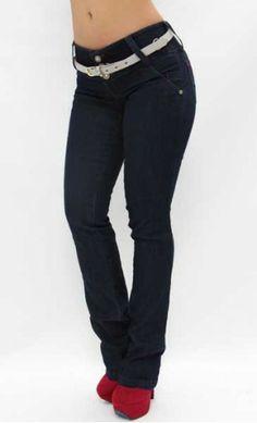 $52.95 High-Waisted Boot Cut Jean w/Belt