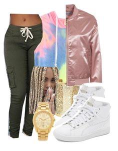 """"""""""" by diamondanderson287 ❤ liked on Polyvore featuring Michael Kors, Forever 21, NLY Trend and Puma"""