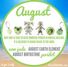 Happy birthday August babies!   Origami Owl August birthstones.  New jade and peridot!  www.bcarmichael.origamiowl.com