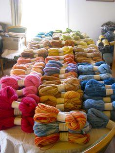 Naturally dyed yarn, beautiful.