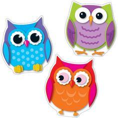 Colorful owl cut-outs love owls ;) дошкольный и детские Classroom Decor Themes, Classroom Posters, Classroom Ideas, Owl Centerpieces, Owl Pictures, Bulletins, Owl Crafts, Owl Bird, Pet Birds