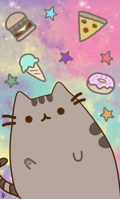Pusheen Wallpaper, draw and paint time : 2 hours Paint Tool Sai I hope you like it! Pusheen Wallpaper, Unicornios Wallpaper, Kawaii Wallpaper, Wallpaper Iphone Cute, Disney Wallpaper, Cartoon Wallpaper, Wallpaper Backgrounds, Wallpaper Quotes, Chat Pusheen
